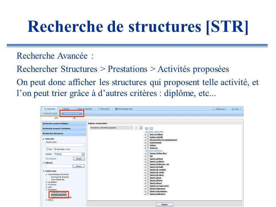 Recherche de structures [STR]